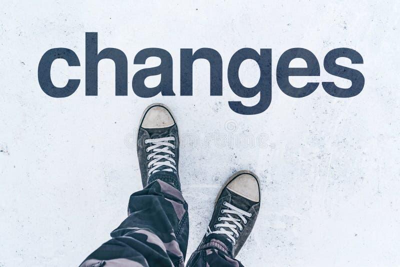 Veranderingen in het leven, conceptueel beeld stock afbeeldingen