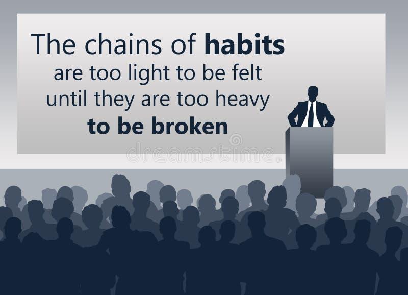 Veranderings slechte gewoonten vector illustratie