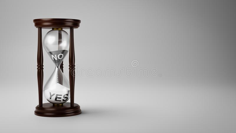 Veranderingsadvies na verloop van tijd vector illustratie