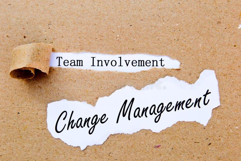Veranderingsbeheer - Team Involvement - succesvolle strategieën voor veranderingsbeheer stock fotografie
