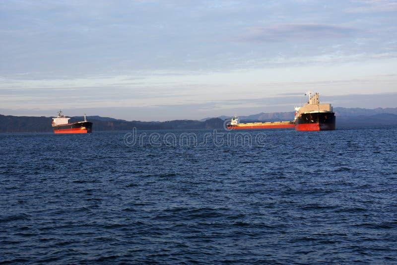 Verankerde tankers. royalty-vrije stock foto