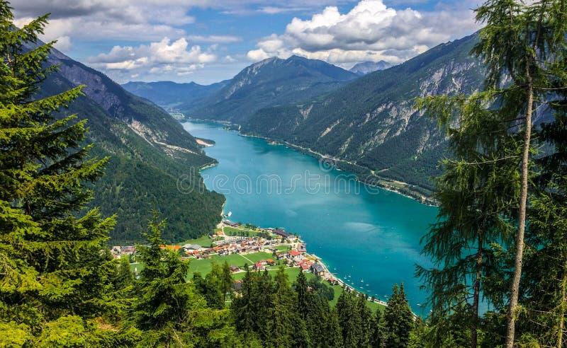 Verano Achensee el Tirol, Austria fotos de archivo