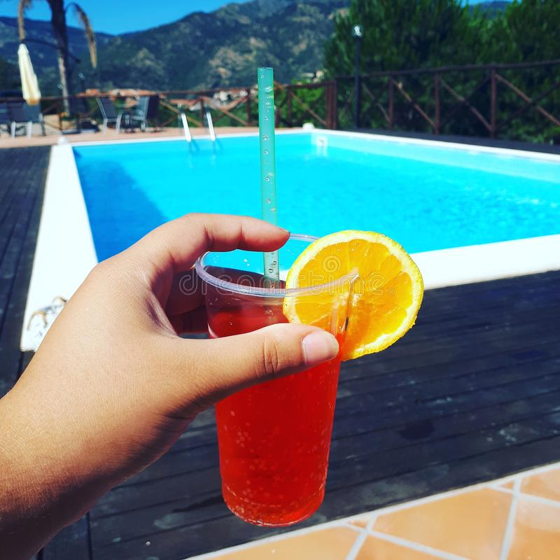 Verano anaranjado Sicilia de la encuesta de Coktail fotos de archivo