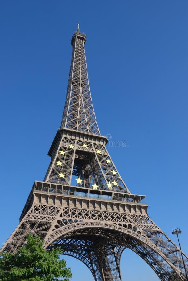 Verano de Eiffel, París fotos de archivo