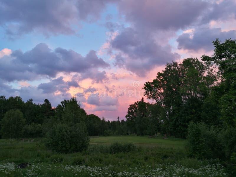Verano del cielo del paisaje fotos de archivo libres de regalías