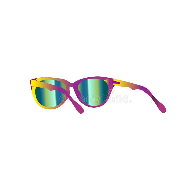Verano del vector con las gafas de sol Ejemplo aislado, EPS 10 ilustración del vector