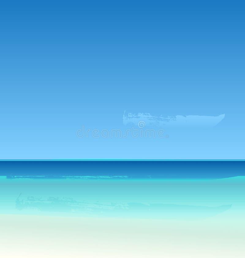 Verano del vector en la playa ilustración del vector