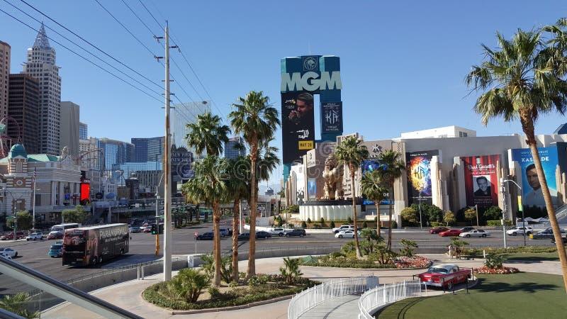 Verano dos hoteles de Streep Las Vegas foto de stock royalty free
