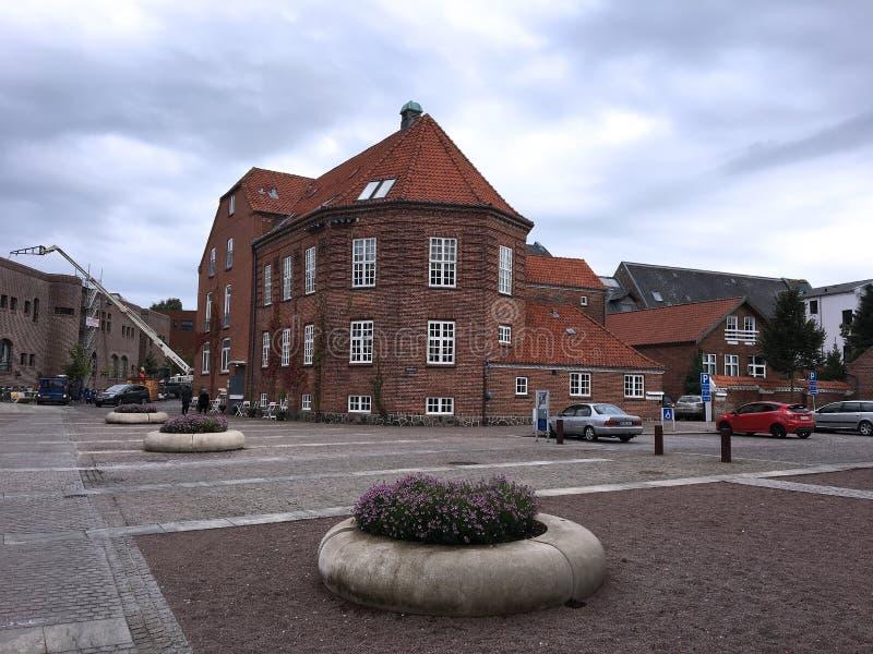 Verano en el Holstebro, Dinamarca imagenes de archivo