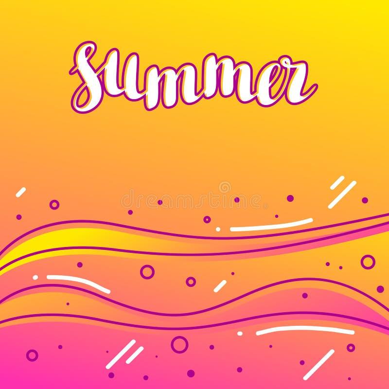 Verano en la playa arenosa Ejemplo estilizado de la costa costa libre illustration