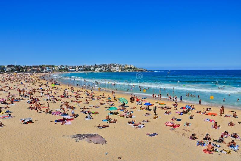 Verano en la playa de Bondi, Sydney, Australia fotos de archivo