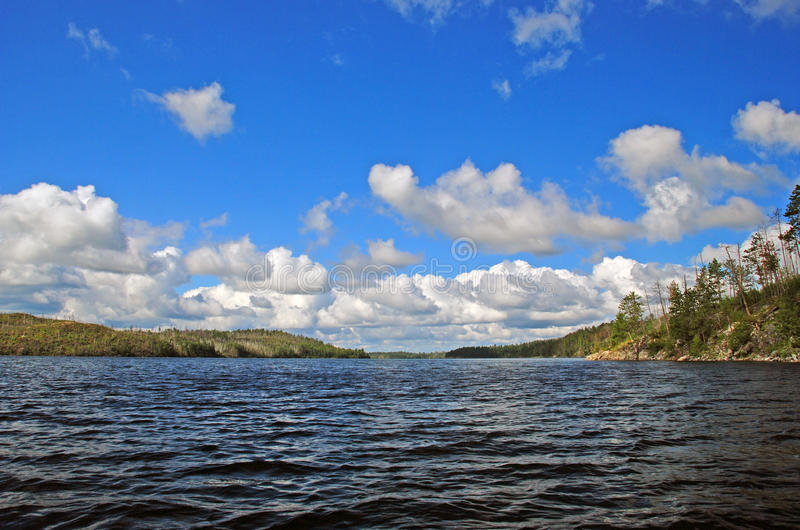 Verano en país de la canoa fotografía de archivo