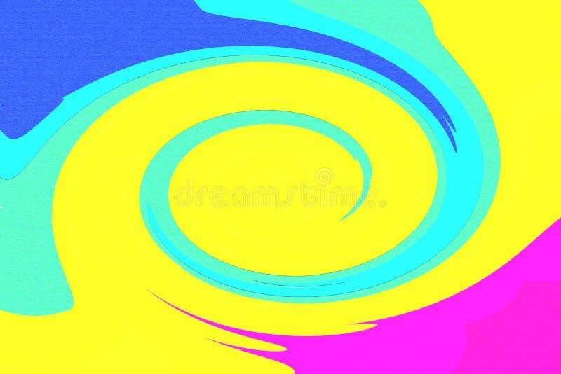 Verano fresco 2 en colores pastel ilustración del vector