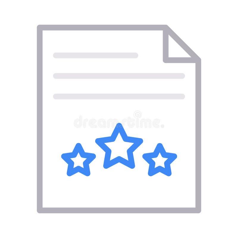 Veranschlagende Farblinie-Vektorikone der Datei dünne lizenzfreie abbildung