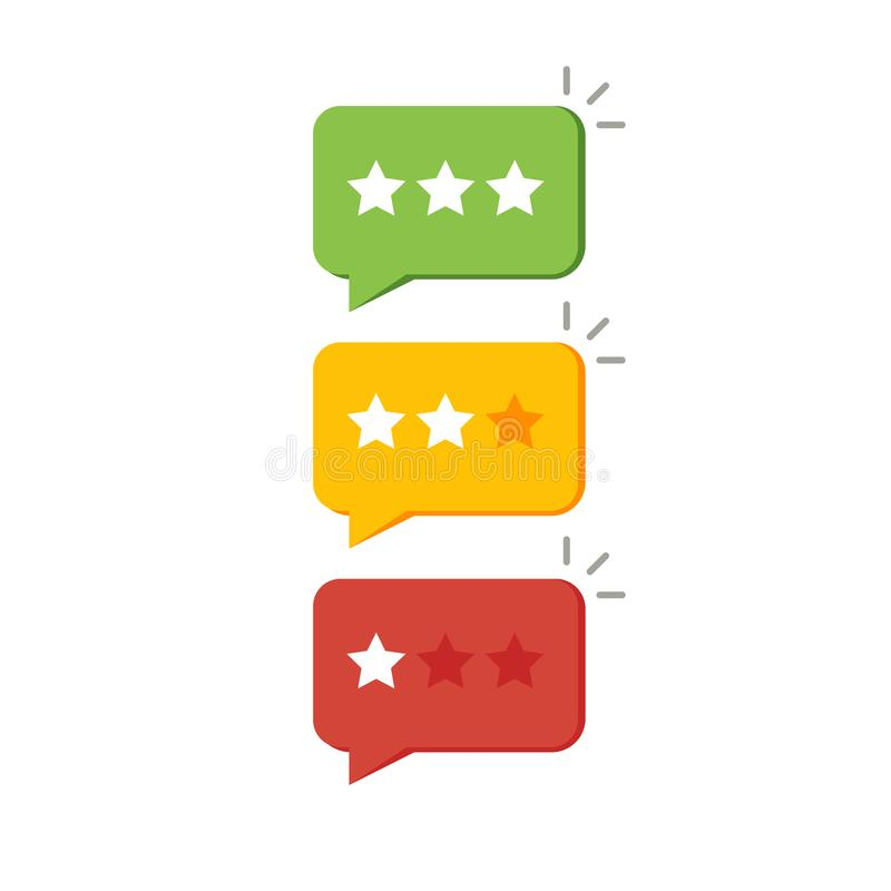 Veranschlagender Stern wie Feedback Konzept der Mitteilung, Meinung, Referenz, Grad ui, Benutzersteuerung, Kontrolle, Bewertung F stock abbildung