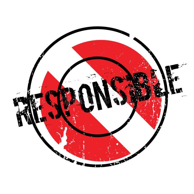 Verantwoordelijke rubberzegel stock illustratie