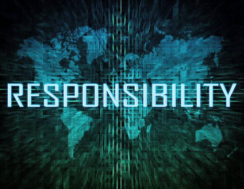 verantwoordelijkheid vector illustratie