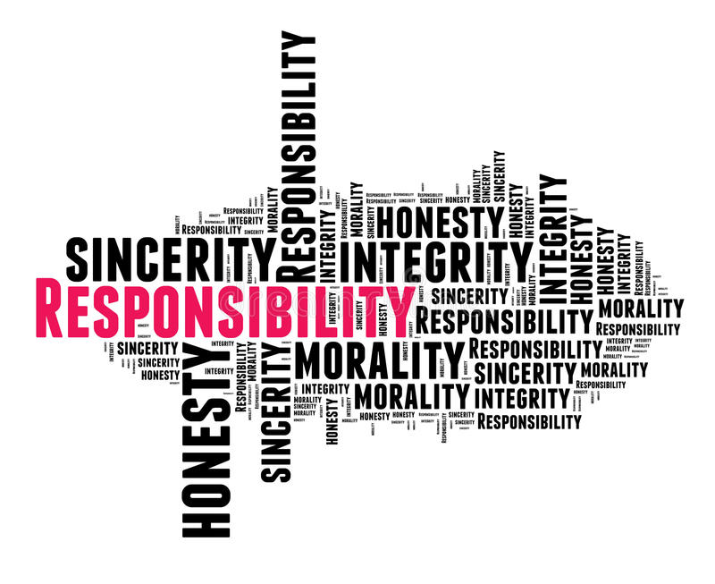 Verantwoordelijkheid in woordwolk stock illustratie
