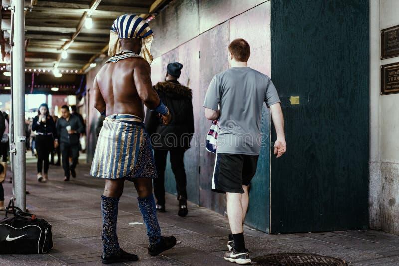 Verantwortliches Pharao des Mannes in New York, Manhattan lizenzfreies stockbild