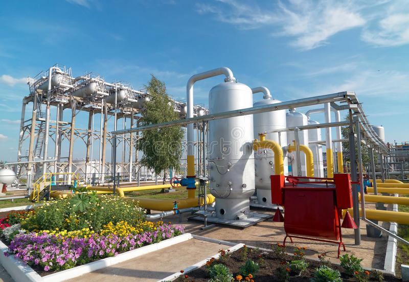 Verarbeitende Industrie des Gases lizenzfreies stockbild