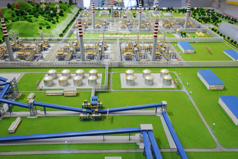 Download Verarbeitungsanlagebaumuster Des Sinopec Gruppen-Erdgases Redaktionelles Stockfotografie - Bild von heizung, chemikalie: 27735122