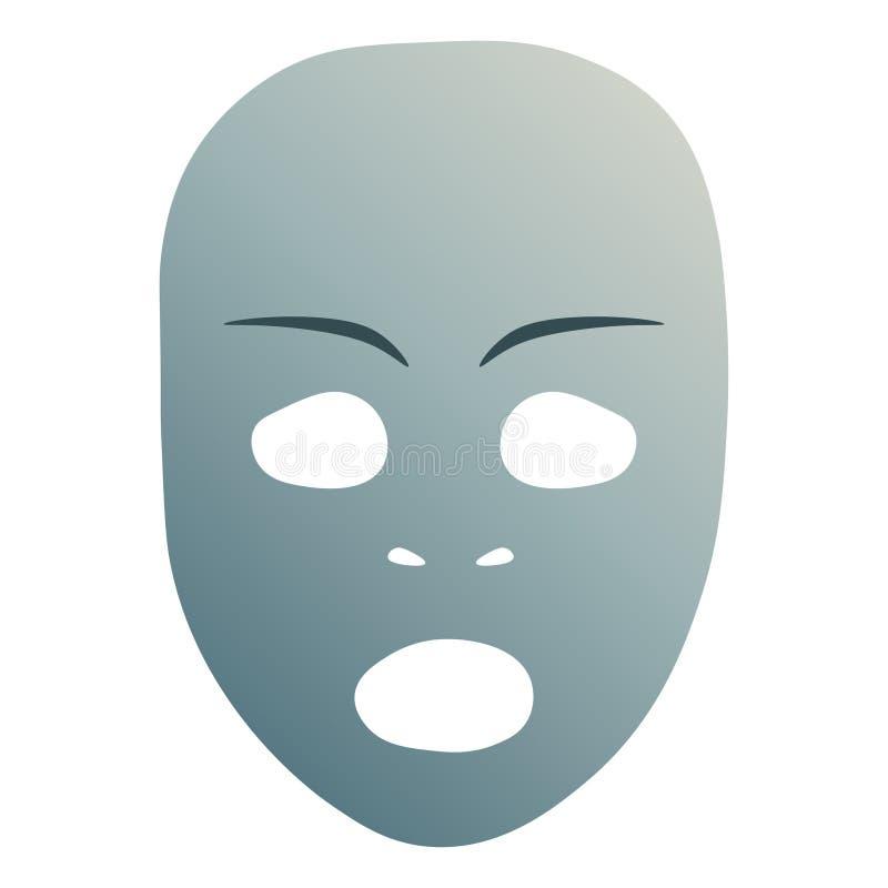 Verbaasd theatraal masker stock illustratie