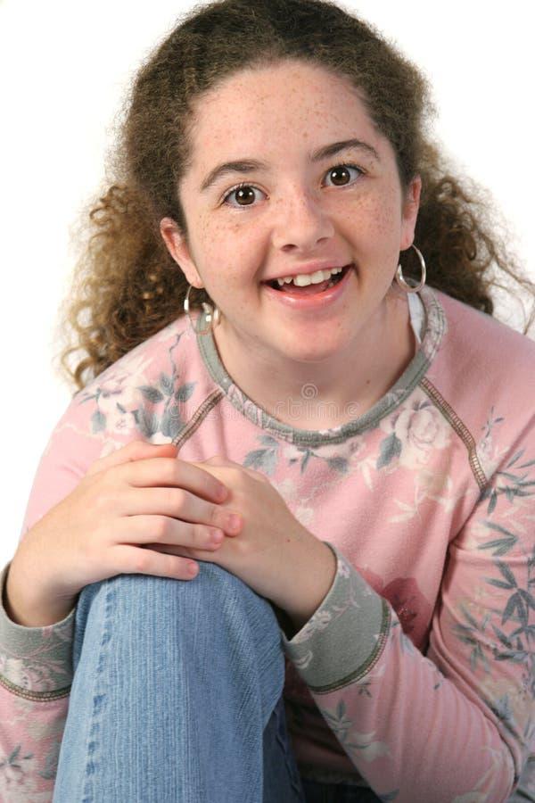 Verbaasde Het Meisje Van De Tiener Stock Afbeelding