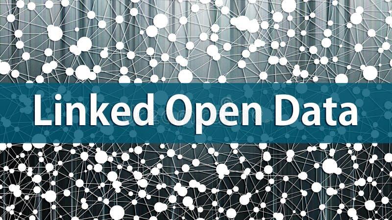 In verband gebracht Open Data-concept met kennisgrafiek op de achtergrond royalty-vrije illustratie