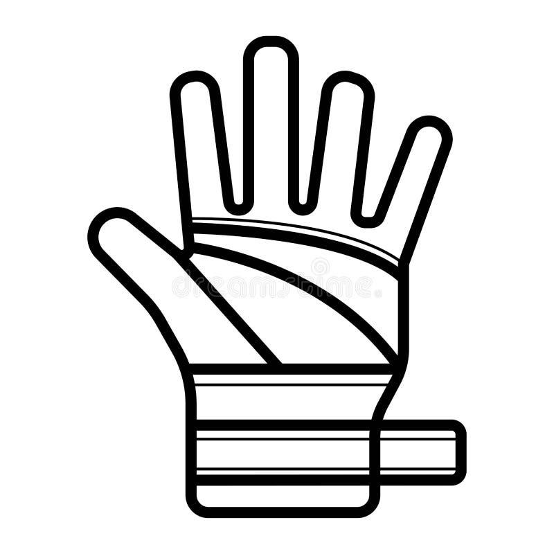 Verband op handmens Gebroken, besnoeiing, beschadigd wapen royalty-vrije illustratie