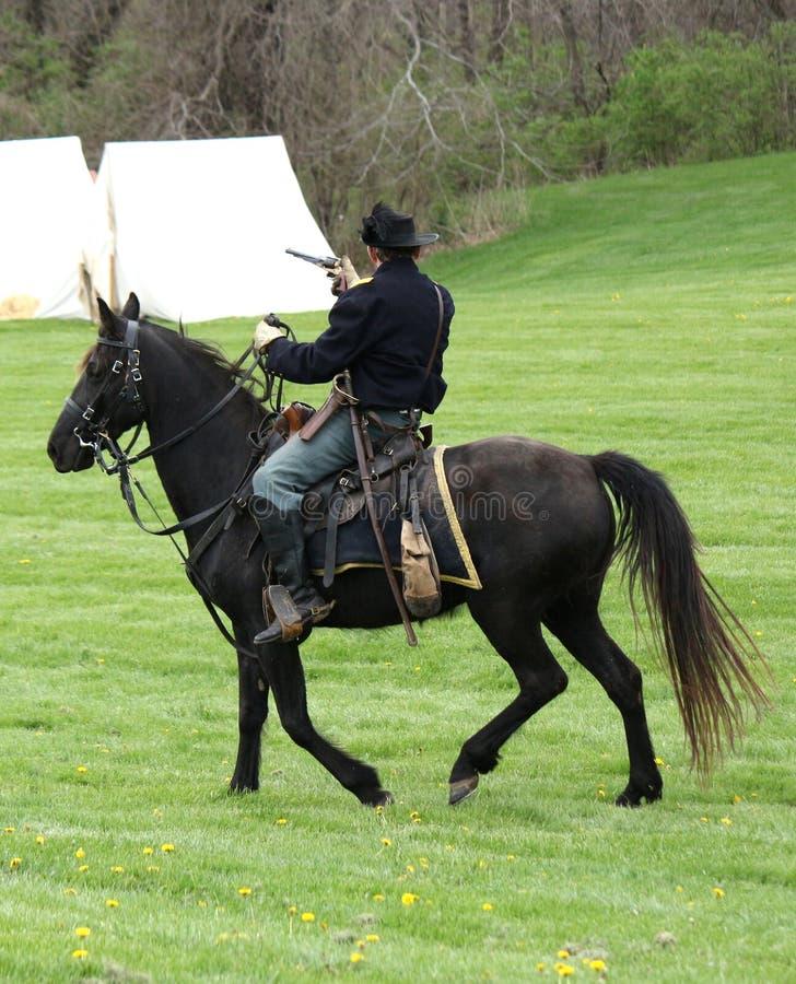 Verbands-Soldat Civil War Reenactment lizenzfreie stockfotos