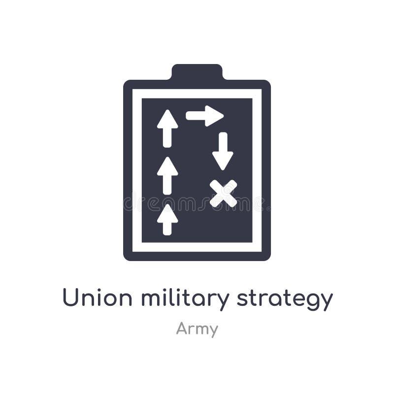 Verbandsmilitärstrategieikone lokalisierte Verbandsmilitärstrategieikonenvektorillustration von der Armeesammlung editable singen lizenzfreie abbildung