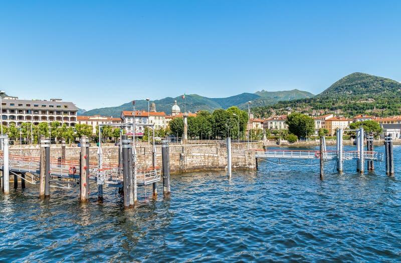 Verbania intra no lago Maggiore, Itália fotografia de stock