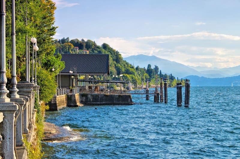 Verbania Intra old porto do Lago Maggiore fotos de stock royalty free