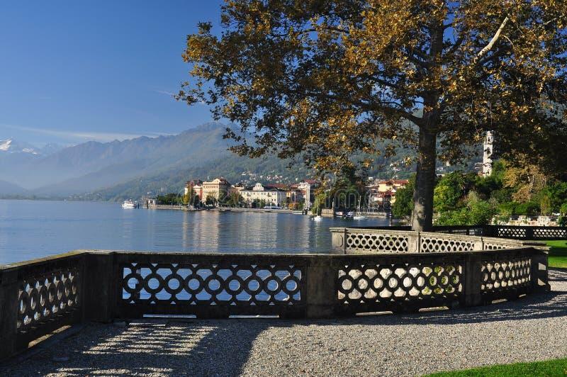 Verbania Pallanza, lago Maggiore, Itália imagens de stock