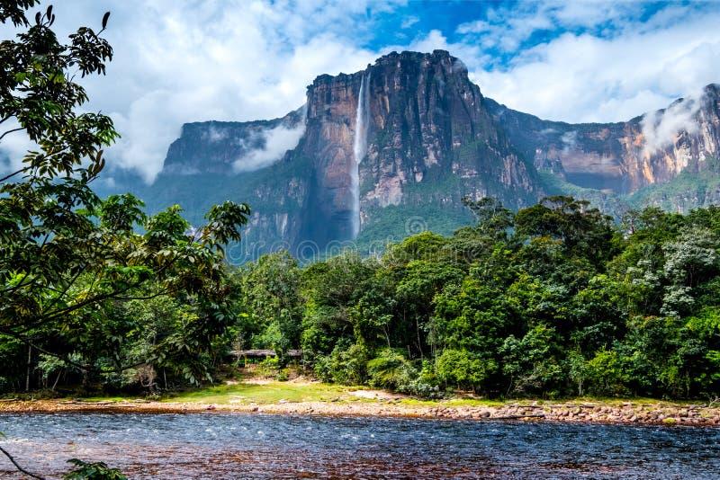 Verbazend Angel Falls, Venezuela stock afbeeldingen