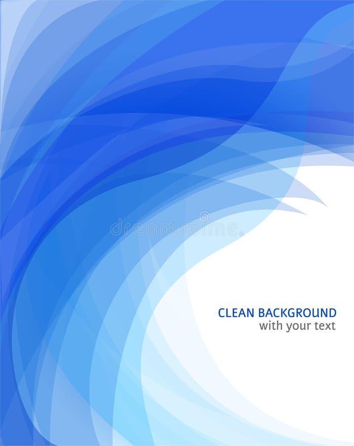 Verbazende abstracte blauwe golfachtergrond royalty-vrije illustratie