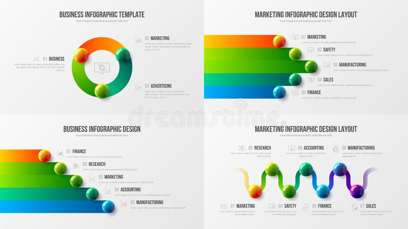 Verbazende bedrijfs infographic vastgestelde ontwerplay-out Premiekwaliteit marketing vector de illustratiemalplaatje van de anal vector illustratie