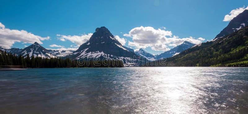 Verbazende bergen in het Nationale Park van Grand Teton royalty-vrije stock foto's