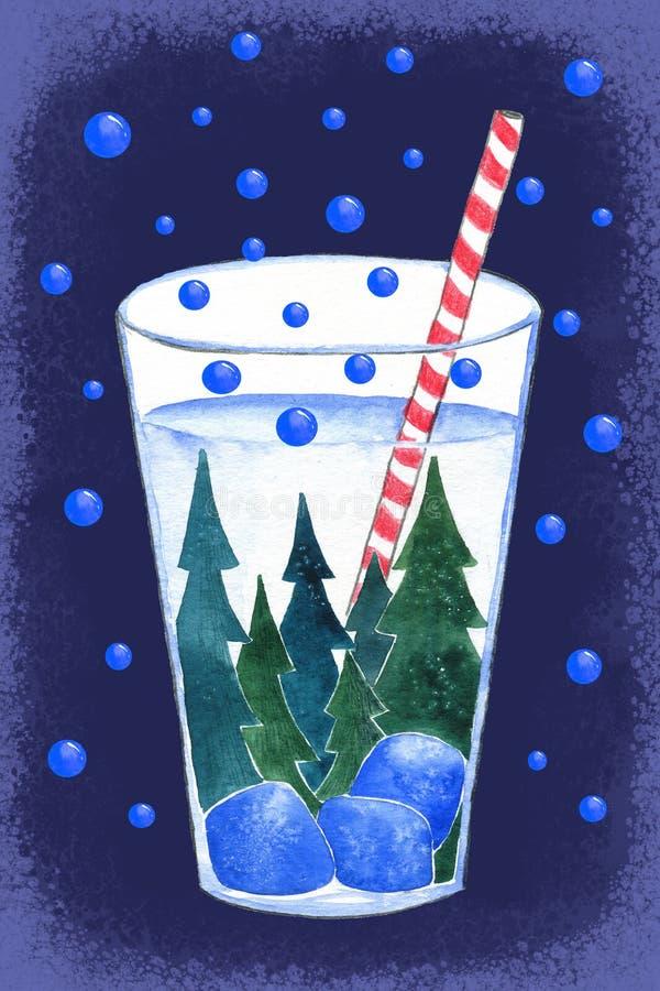 Verbazende cocktail royalty-vrije illustratie