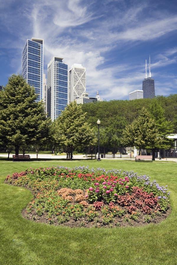 Verbazende dag in Chicago stock afbeeldingen