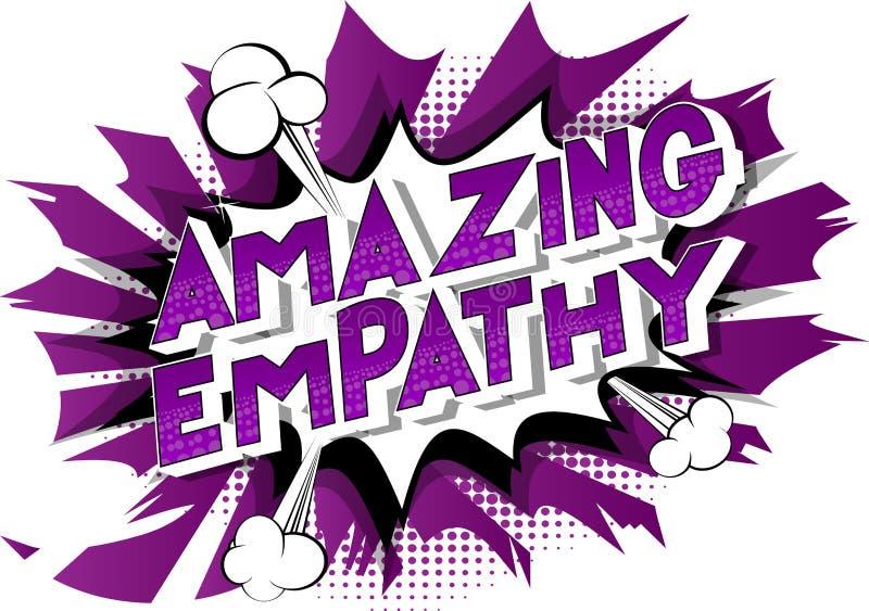 Verbazende Empathie - de Grappige woorden van de boekstijl vector illustratie