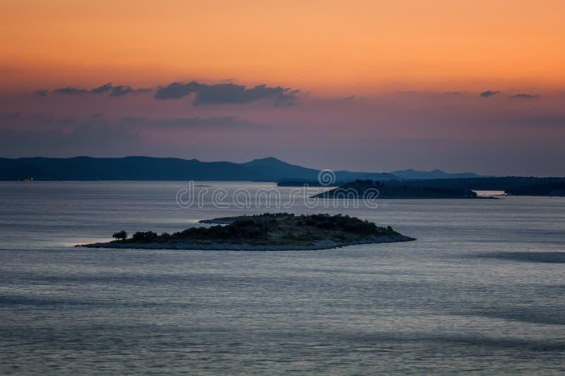 Verbazende Kornati-archipel van Kroatië Noordelijk deel van Dalmati royalty-vrije stock foto's