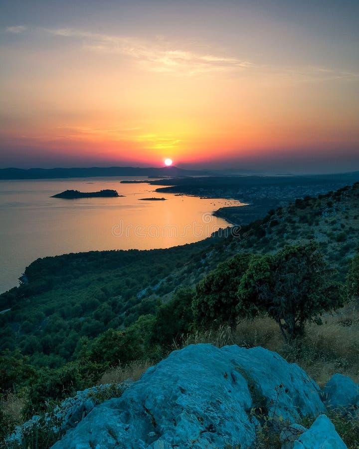 Verbazende Kornati-archipel van Kroatië Noordelijk deel van Dalmati stock foto's