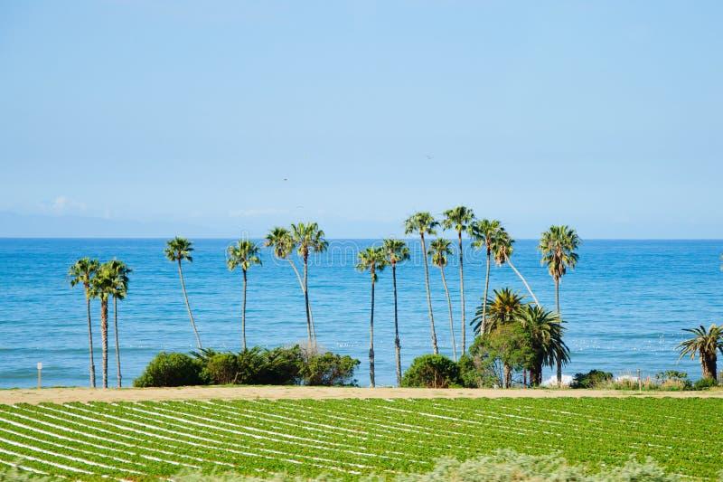Verbazende mening door de oceaan in zonnig Californië royalty-vrije stock fotografie