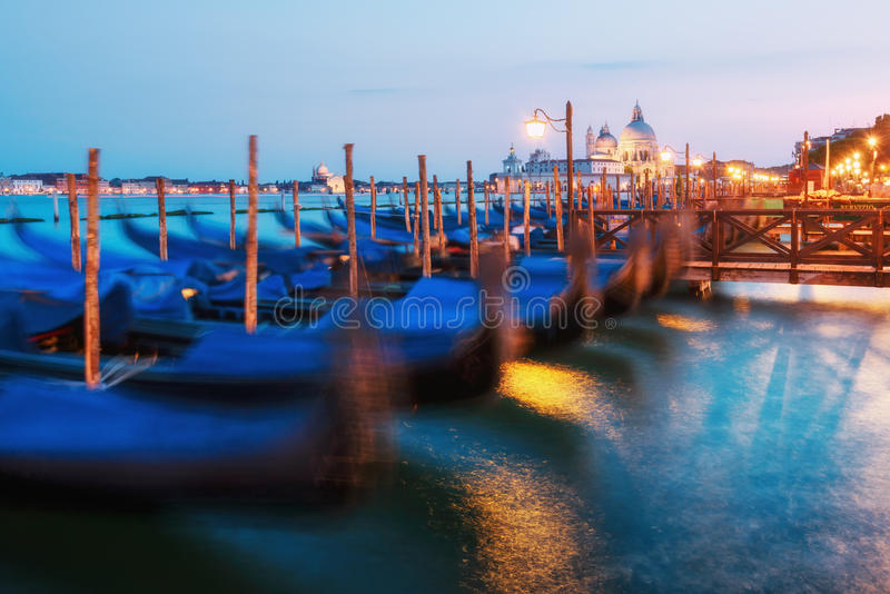 Verbazende mening op avond Venetië stock afbeelding
