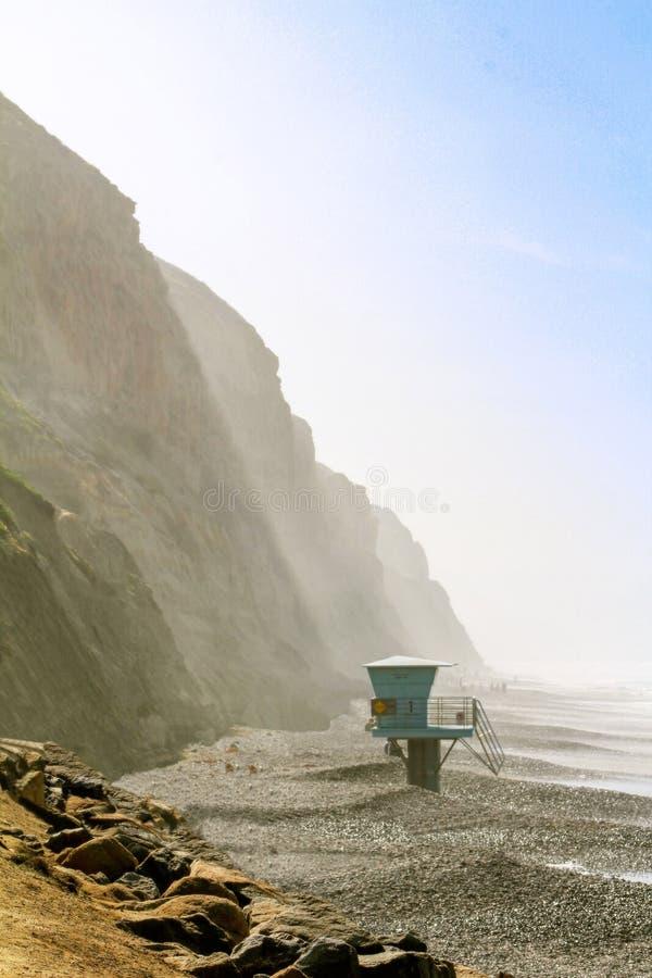 Verbazende mening van de Vreedzame Oceaan in Torrey Pines, Californië royalty-vrije stock afbeeldingen