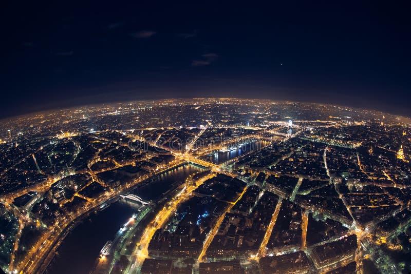 Verbazende nachtmening van de Franse toren van Eiffel; mooie horizon o stock afbeeldingen
