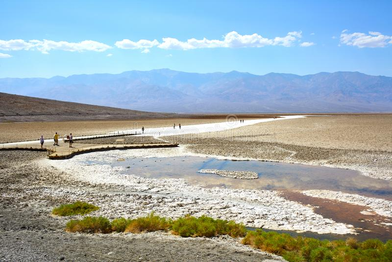 Verbazende Nationale het Parkwoestijn van de Doodsvallei in Californië, de V.S. stock foto's