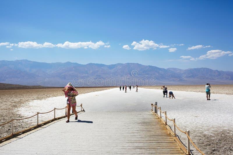 Verbazende Nationale het Parkwoestijn van de Doodsvallei in Californië, de V.S. royalty-vrije stock afbeeldingen