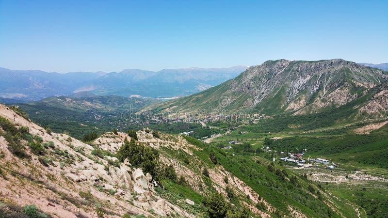 Verbazende schoonheid van bloeiende bergen royalty-vrije stock fotografie